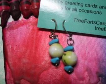Sea Green and Sky Blue Earrings.