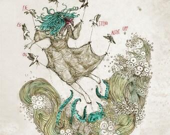 Sigur Rós - Hoppípolla /// Song-inspired illustration /// Square print
