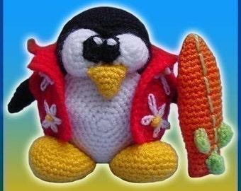 Amigurumi Pattern Crochet Hawaiian Tux Doll DIY Instant Digital Download PDF