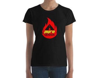 Women's A Pyro Design Logo Tee