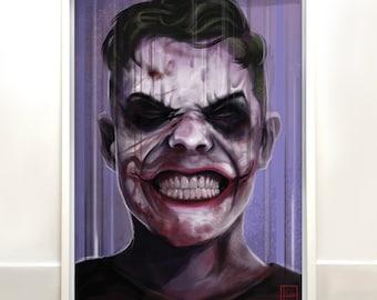 The smile - the Joker inspired original signed digital art print- fan wall art
