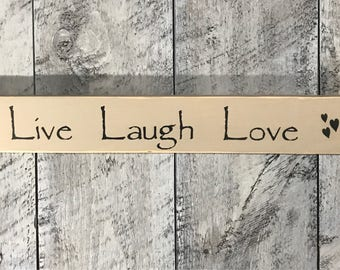 Live laugh love sign - Live laugh love- Home decor - Wall decor - Sign - Wood sign - Love sign - Love - Live - Laugh - Rustic sign - Wood