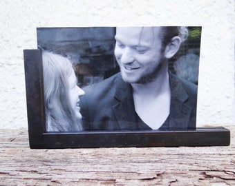 Iron anniversary gift - wrought picture frame - handmade photo holder - 6th anniversary gift - iron gift for him - anniversary gift for her