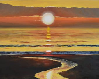 Hilton Head Sunset Original Painting