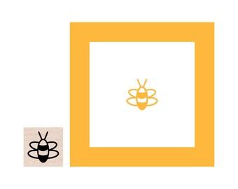 Mini Bee Rubber Stamp