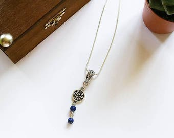 Celtic Necklace: Countess Maelys (Lapis Lazuli)