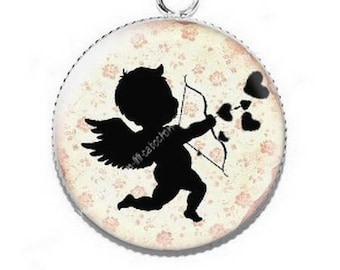 Cabochon resin cameo 4 Cupid Valentine