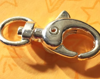 LARGE LOBSTER CLASP (Silver finish)