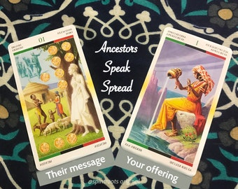 Ancestors Speak Spread - A two card Afrocentric tarot reading to hear a message from your ancestors and find out what offering to give them