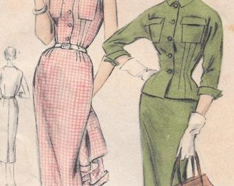 Bust 34-1954 Misses' Dress and Jacket Vogue 8347 Size 16