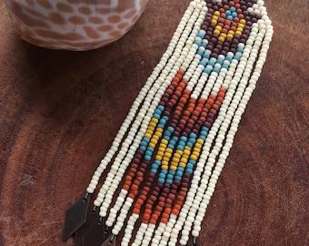 Tupelo Honey boho seed bead earrings