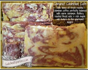 Cinnanut Columbian Cafe' - Rustic Suds Natural - Organic Goat Milk Triple Butter Soap Bar - 5-6oz. Each