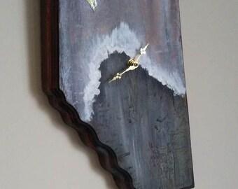 Wood Clock, Wall art piece