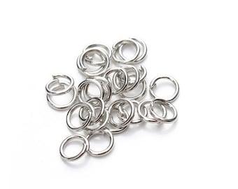 200 dark silver open jump rings, 5mm
