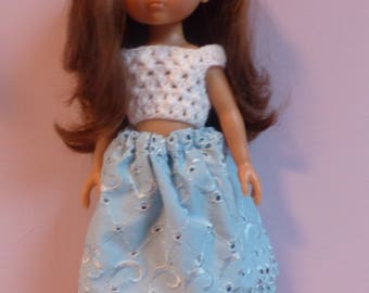 dolls clothes: dress dress + top for girls Corolla paola reina