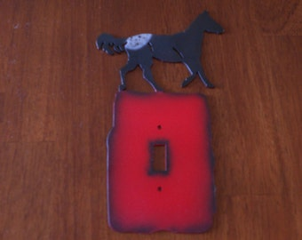 metal single light switch cover with deer//mothers day gift//fathers day gift//anniversary gift//man cave//gift for her//gift for him