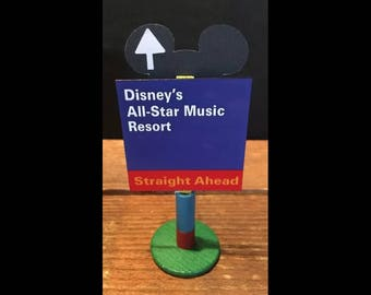 handmade Disney inspired road sign Disney's All-Star Music Resort