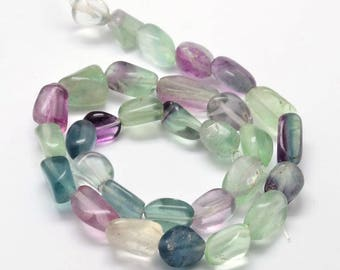 Rainbow Fluorite Gemstone Nuggets