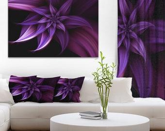 Fractal Flower Purple in Floral Canvas Art Print and Landscape Metal Wall Art  (PT8886)