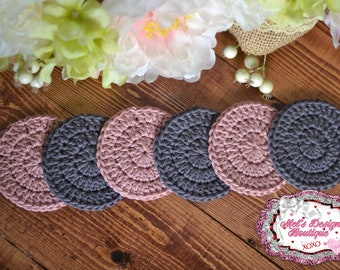 cotton scrubbies - cotton rounds - 100% cotton scrubbies - scrubbies - crochet cotton rounds - crochet - facial cleansing pads - face pads