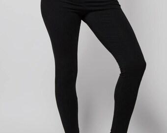 Yoga Leggings - Womens Leggings - Yoga Pants - Hemp Leggings - Fitness - Dance - Hemp, Organic Cotton - Natural Leggings - Ankle Length
