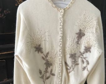 Vintage Beaded Sweater
