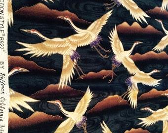 Hoffman Kimono Bird Cotton Fabric Piece