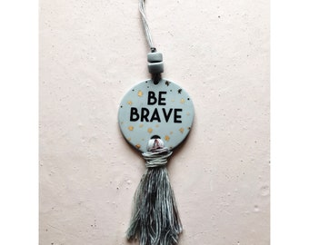 Blue Be Brave Wall Hanging