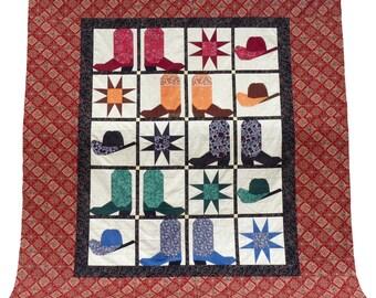 Cowboy Boots n Hats quilt pattern