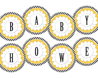 Bumble Bee Baby Shower Banner-INSTANT DOWNLOAD