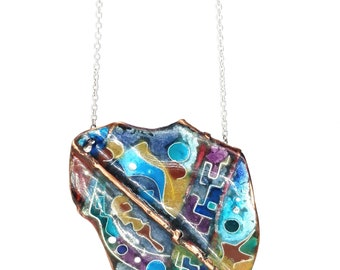 Edgy free-form colorful necklace