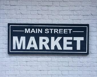 Panneau de bois aspect patiné Main Street Market