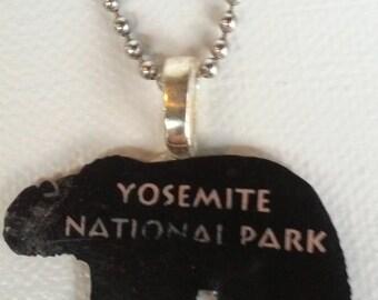 Yosemite National Park Souvenir - Found Object Necklace