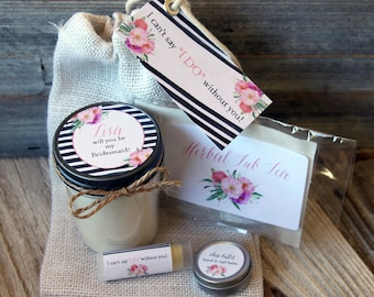 Set of 7 Will you be my Bridesmaid Gift // Will you be my Maid of Honor Gift // Maid of Honor Gift // Bridesmaid Gift