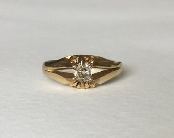 Georgian 18ct 18k diamond belcher ring Birmingham