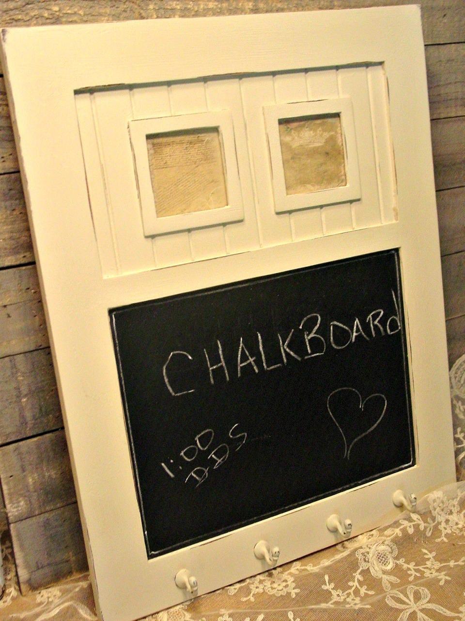 Farmhouse Chalkboard Hand Painted Key Rack Cottage