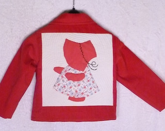 "Instant Download!   Old Fashioned Sunbonnet Sue     5"" x 7"" and 4"" x 4"""