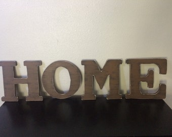 """12"""" HOME wooden letter Shabby chic rustic letter Personalized wooden letter Distressed wooden letter"""