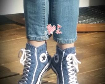 Reaverse  Star Edition ( ENGLISH and FINNISH + modèle maintenant aussi en français) converse slipper socks DIY Pattern