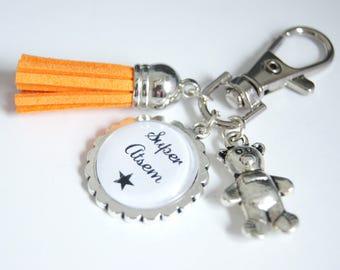 Great school bag charm key chain - Orange