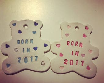 Born in 2017 teddy bear
