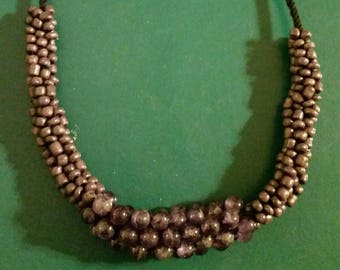 Kumihimo Necklace handmade