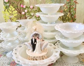 Milk Glass Bowl Milk Glass Candy Dish Wedding Candy Bar Dishes White Bowls Wedding Centerpiece Bulk Vases Candy Buffet Dessert Table Decor