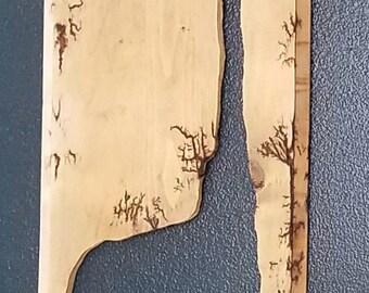 giraffe silhouette, fractal wood burn,lichtenburg, wall art