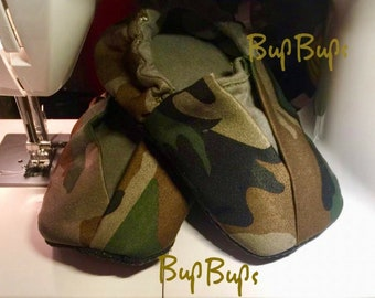 Baby Camouflage Slippers - Novelty shoes - Toddler Slippers - Pram Shoes - Baby  Soft Bottom Shoes - Combat Slippers - Grip Bottom Shoes