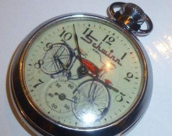 Vintage SCHWINN POCKET WATCH advertising dial watch