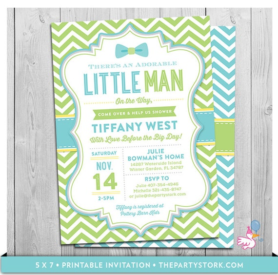 Little man baby shower invitations bowtie theme printable filmwisefo