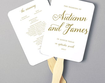 Greenery Wedding Program Fan Template Printable Program Fan - Pages wedding program template