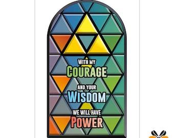 Courage, Wisdom, Power - A5 Romantic Card