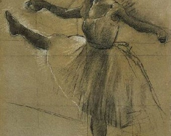 Dancer charcoal - Edgar Degas - Poster A3 or A4 Matt, Glossy or Art Canvas Paper